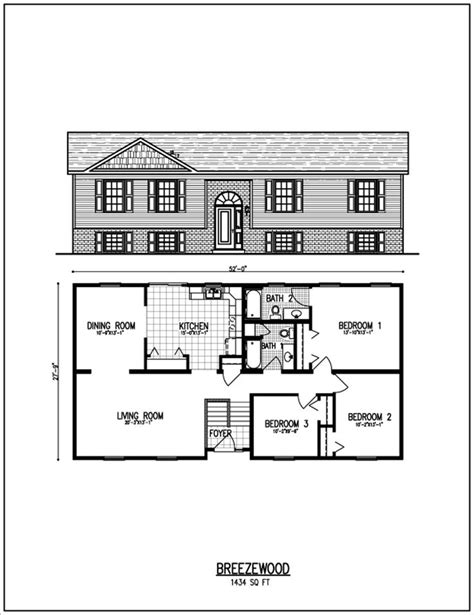 typical raised ranch plan bungalow floor plans ranch house designs floor plans ranch