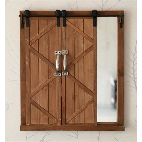 barn style shutters vintiquewise decorative mirror with sliding barn style