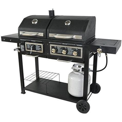 combination gas  charcoal grill decor ideas