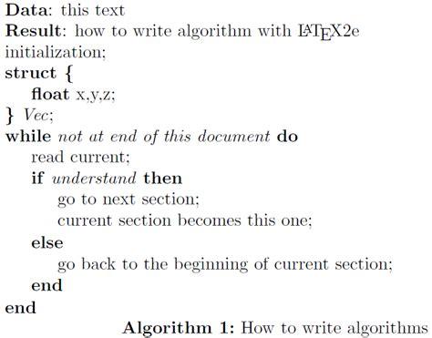 typeset data structures  algorithme tex