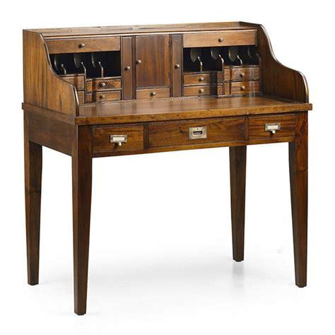 bureau colonial secrétaire style colonial en acajou bureau bois massif