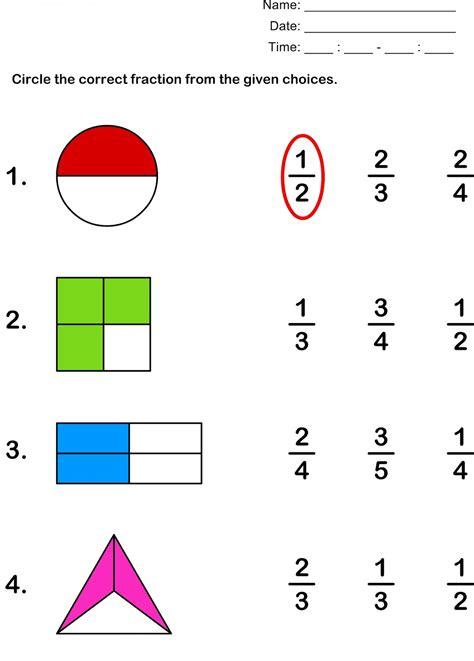 Free Fraction Worksheets Worksheet Mogenk Paper Works