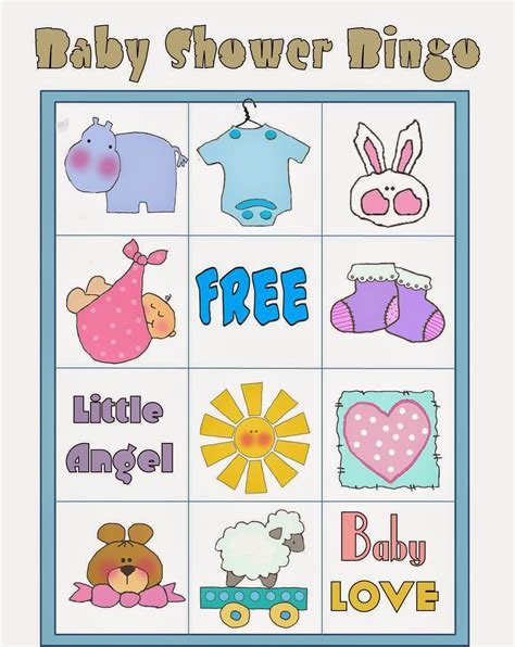 free printable baby shower bingo in colors oh my baby