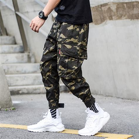 Fashion Camouflage Army Pants Men Jogger Jeans Ankle