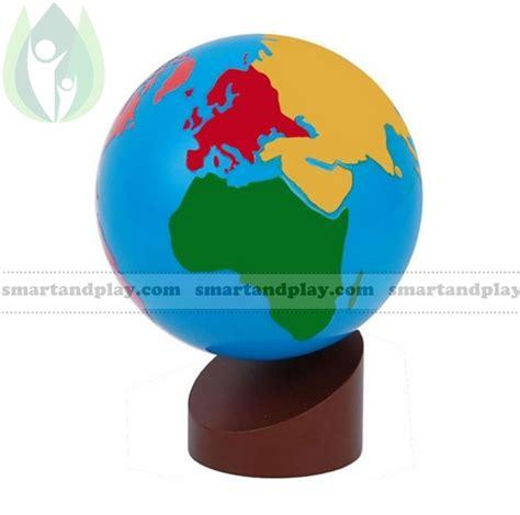 Kontinentu globuss , Montessori mācību materiāls, Cena: 32.9 € - Preces kods: SPG018 - Vairāk ...