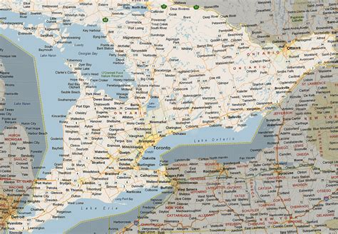ontario map south listings canada