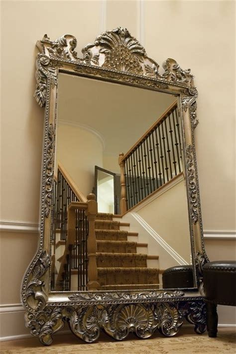 floor mirror ornate details about xl 84 quot ornate wall floor mirror antique silver leaf w brass black huge floor