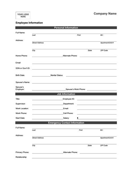 employment information sheet employer contact information hvac cover letter sample