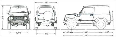 Suzuki Samurai Dimensions suzuki samurai dimensions car info