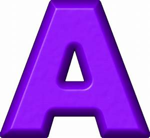 presentation alphabets purple refrigerator magnet a With purple alphabet letters