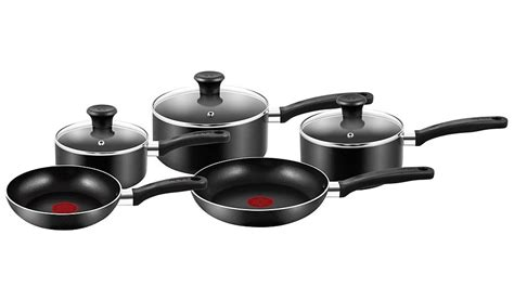 tefal essential 5 non stick cookware pan set pots pans george at asda