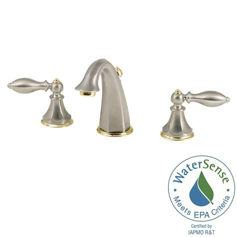 Brushed Nickel And Gold Bathroom Fixtures by Pfister 8 In Widespread 2 Handle Bathroom Faucet