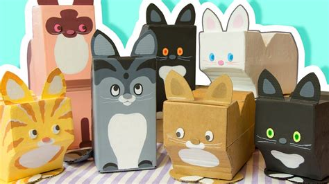 diy decorate  room  cats cardboard crafts