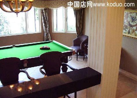 台球厅、台球室、桌球室装修效果图-中国店网