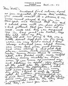 ty cobb letter to babe ruth babe ruth central babe ruth With ty cobb letter