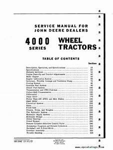 John Deere 4000 Series Wheel Tractors Sm2042 Pdf Manual