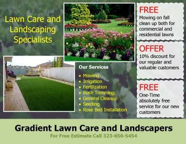 landscaping flyer templates 15 lawn care flyers free exles advertising ideas
