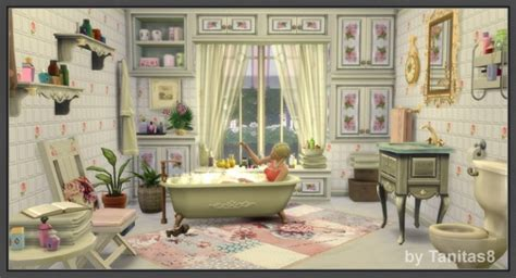 cloud  roses shabby chic house  tanitas sims sims