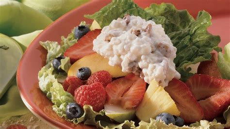 fruit and cottage cheese cottage fruit salad recipe bettycrocker