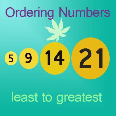 greatest numbers worksheet  ascending order