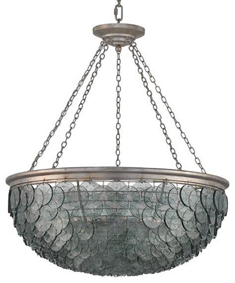 coastal style chandeliers hatteras coastal indigo glass disc chandelier