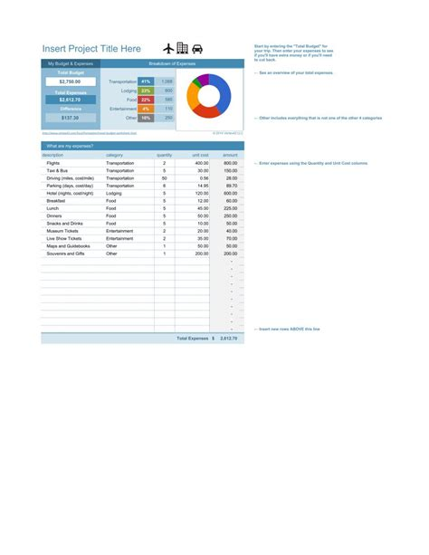 travel budget template xlsx travel budget template pdf google sheet excel format