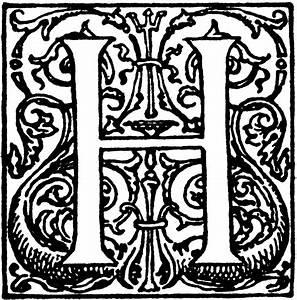 Decorative Letter H   ClipArt ETC