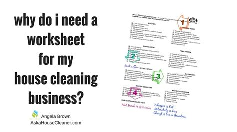 worksheets   house cleaning business atsavvycleaner