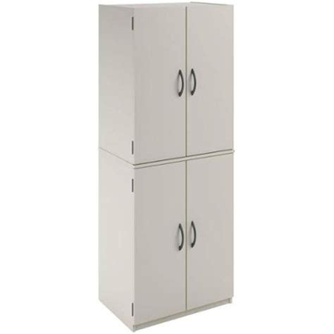 kitchen pantry storage cabinet white  door shelves wood