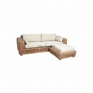 Canapé En Rotin : meubles rotin pas cher le choix de mobilier durable design ~ Teatrodelosmanantiales.com Idées de Décoration