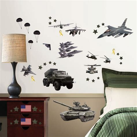 wallpops        military  piece wall