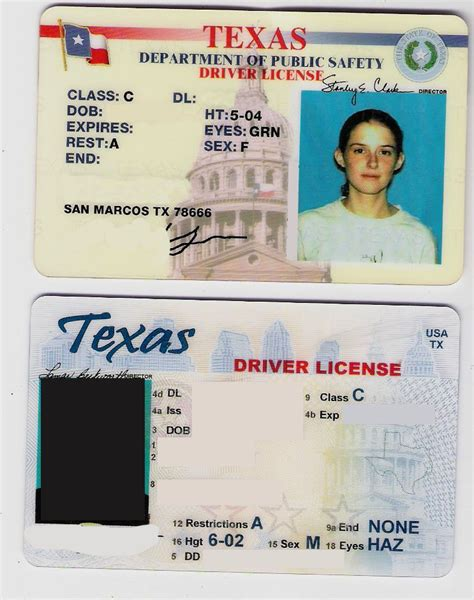 texas fake id two drivers licenses cards the id template id back and