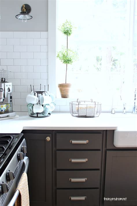 Kitchen Backsplash Ideas For White Cabinets - kitchen cabinet colors before after the inspired room