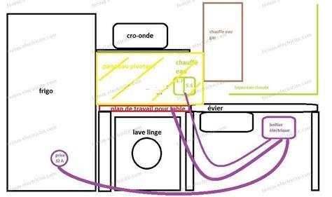 installation electrique d une cuisine schéma branchement table à induction brancher une plaque