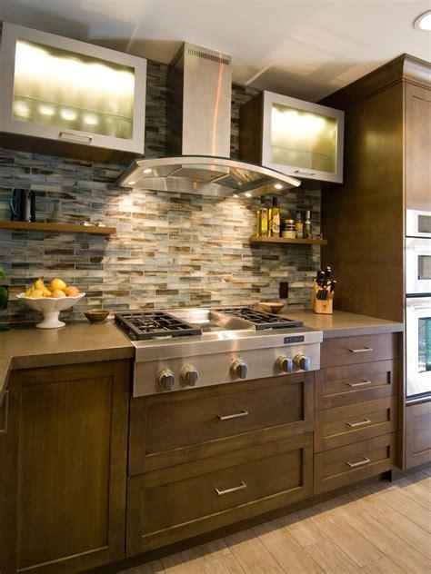 Contemporary Kitchen With Mosaic Tile Backsplash  Hgtv