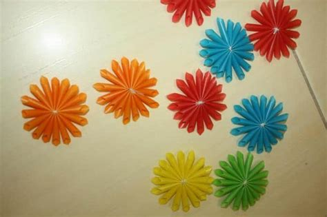 drinking straw flower simple craft ideas