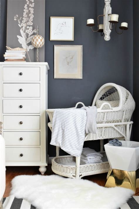 pottery barn wall decor nursery our new baby bassinet and room for baby nesting