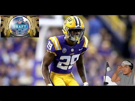 greedy williams lsu film session  draft prospect