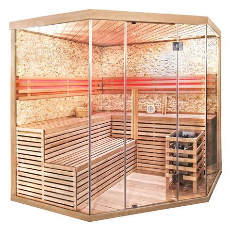 Sauna Glasfront Kaufen by 1 Sauna Skyline Xl Big 187 Luxus Ecksauna Mit Glasfront Kaufen