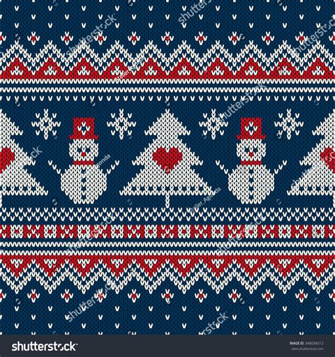 Christmas sweater pattern | svg cut file by svg cuttables. Winter Holiday Sweater Design Seamless Knitting Stock ...