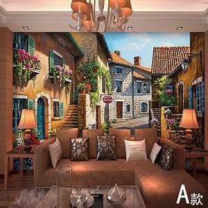 European town Mural wallpaper landscape full Wall Murals ...