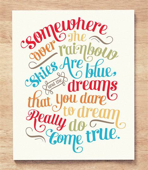 design quote somewhere the rainbow chic living