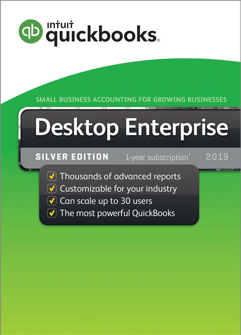 quickbooks enterprise  silver  user  year subscription cpawarehousecom