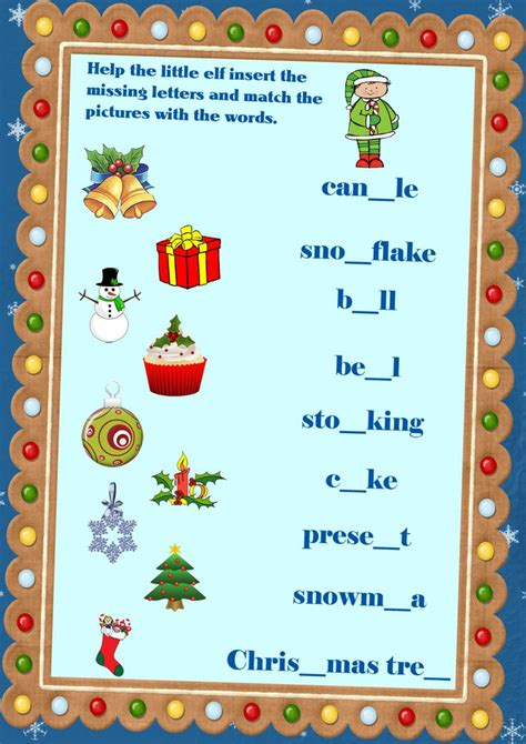 17 Best Images About English Learning Winter Worksheets And Flashcards On Pinterest English