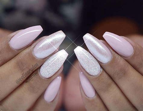 amazing glitter wedding nails   bride cute