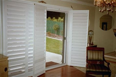 sliding louvered patio doors style exterior plantation shutters for sliding glass doors