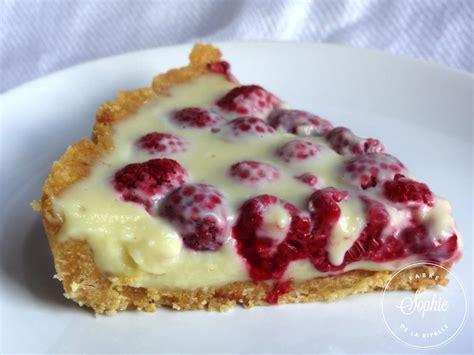 tarte aux framboises et chocolat blanc sans cuisson la tendresse en cuisine