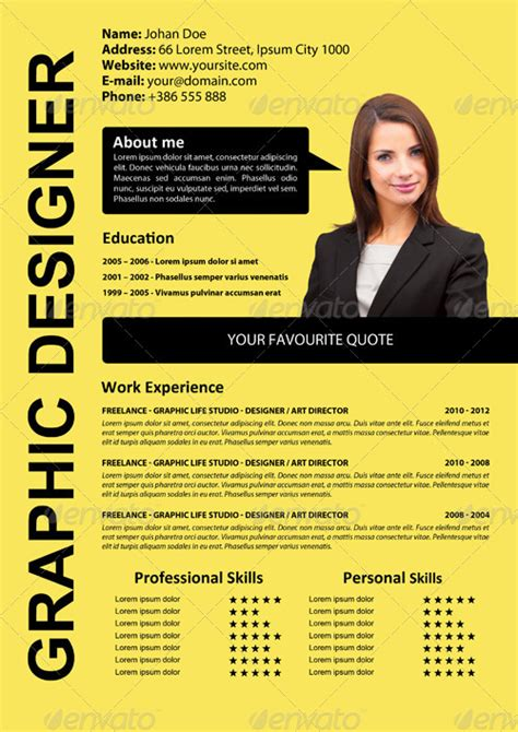 Simple And Attractive Resume by Simple Attractive Cv By Xstyler Graphicriver