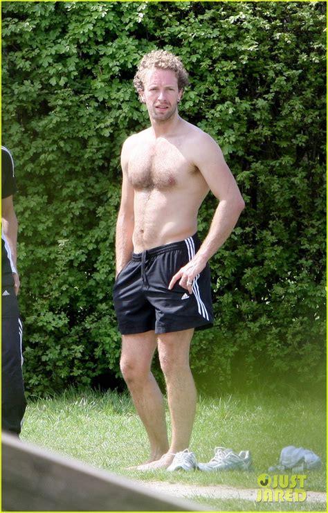 chris martin shirtless london workout photo