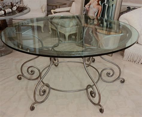 wrought iron and glass dining table round glass top dining table with attractive wrought iron